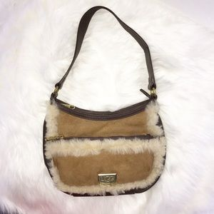 Ugg Australia suede leather purse handbag